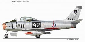 F 86 SABRE   332Skv L-AH