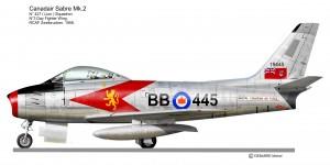 F 86 SABRE  CAN 427sq