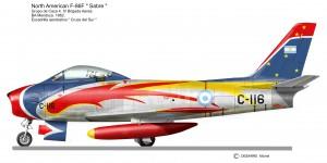 F 86 SABRE   Cruze del Sur