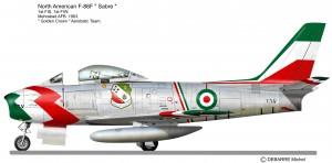 F 86 SABRE  Golden Crown