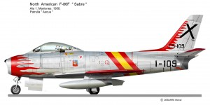 F 86 SABRE  Patrulla Ascua 1957 2