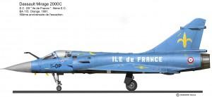Mirage 2000C Bleu