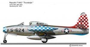 F-84G 527s bleu